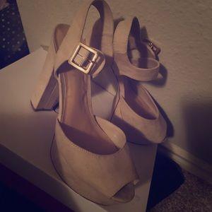 chunky block platform heels
